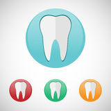 Teeth icon set. Stock Images