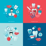 Teeth icons flat Stock Photography