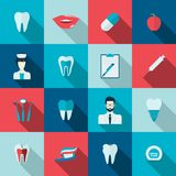 Teeth icons flat Royalty Free Stock Photos