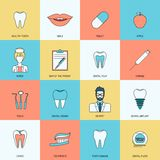Teeth icons flat Stock Photos