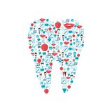 Teeth icons flat Stock Images