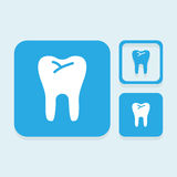 Teeth icons great for any use. Vector EPS10. Royalty Free Stock Photos