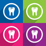 Teeth icons great for any use. Vector EPS10. Royalty Free Stock Photo
