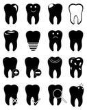 Teeth icons set Stock Photos