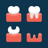 Teeth  Icons Set for Dental Design. Vector Stock Image