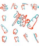 Teeth  icons symbol Royalty Free Stock Image