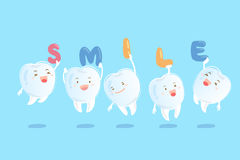 Teeth with invisible braces Stock Images