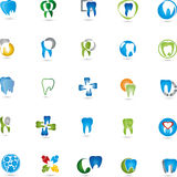 Teeth, logos collection, dental, dentist Stock Photography