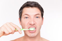 Teeth man care Royalty Free Stock Photos