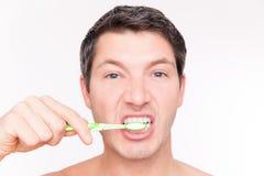 Teeth man care Royalty Free Stock Photos