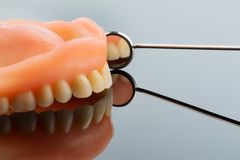 Teeth and mouth mirrors Stock Photos