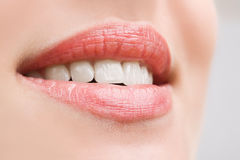 Teeth Of A Smiling Young Woman Royalty Free Stock Image