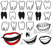Teeth stock illustration