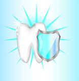 Teeth protection with shield Stock Photos