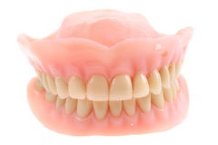 teeth prothesis isolated Stock Photography