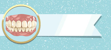 Teeth and ribbon. Concern for the health of teeth and ribbon Stock Image
