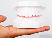 Teeth sample Royalty Free Stock Photos