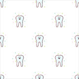 Teeth seamless pattern Stock Images