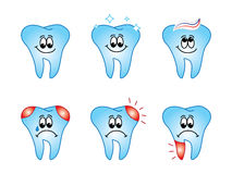 Teeth set Stock Images