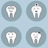 Teeth set. Dental collection for your design Royalty Free Stock Image