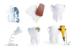 Teeth set on a white background Stock Image