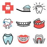 Teeth and stomatology icons Stock Photo