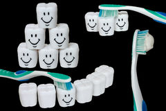 Teeth and toothbrush Stock Photography