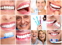 Teeth with toothbrush. Royalty Free Stock Image