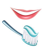 Teeth and Toothbrush Stock Photo