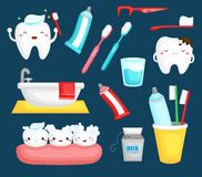 Teeth and toothbrush Royalty Free Stock Photo
