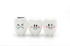 Teeth toy smile and cry emotion Royalty Free Stock Image