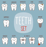 Teeth treatment set. Dental collection for your Royalty Free Stock Image