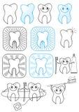Teeth.Vector απεικόνιση συμβόλων Στοκ Φωτογραφίες