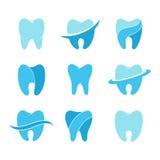 Teeth vector icon set Royalty Free Stock Photography