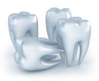 Teeth on white background Royalty Free Stock Photos