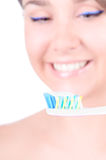 Teeth whitening. Dental care Royalty Free Stock Photography