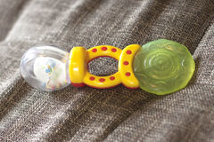 Teether for babies , toy. Teether for babies ,baby toy stock photography
