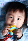 Teething do bebê Imagem de Stock Royalty Free