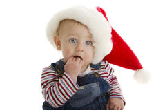 Teething Santa baby Royalty Free Stock Photos