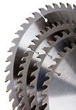Teeths of disk saws for wood processing Stock Image