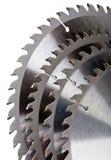 Teeths van schijfzagen voor houtverwerking Stock Afbeelding