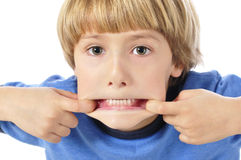 Teethy funny face Stock Images
