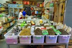 Teeverkäufer in Chinatown Bangkok lizenzfreie stockbilder