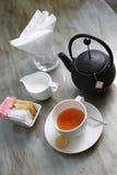 Teezeit, Abschaltzeit lizenzfreie stockbilder