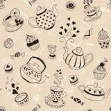 Teezeit backgroud Stockbilder