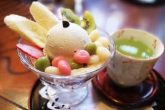 Teezeit in Hakodate Japan stockfotografie
