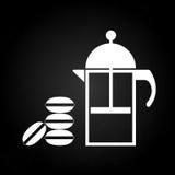 Teezeit mit macaron Stockfotografie