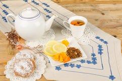 Teezeit mit rooibos Stockfotografie