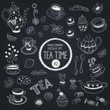 Teezeitgegenstände eingestellt Lizenzfreies Stockbild