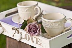 Teezeitpicknick Stockfoto